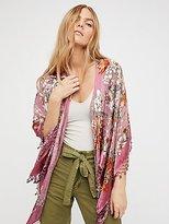 Free People Burnout Silk Butterfly Kimono