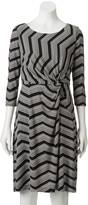Dana Buchman Women's Printed Knot-Front Dress