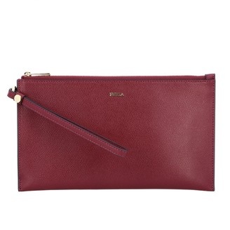 Furla Clutch Ares Babylon Xl Bag In Textured Leather