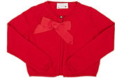 Lanvin COTTON CROP SWEATER-RED SIZE 6