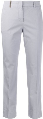 Peserico Cropped Tapered-Leg Trousers