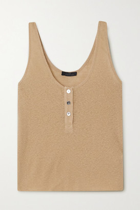 The Range Shadow Ribbed Jersey Tank - Beige