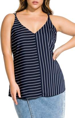 City Chic Split Stripe Cami