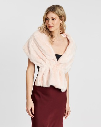 Unreal Fur Women's Pink Capes - Champagne Wrap - Size One Size, One size at The Iconic