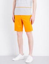 HUGO BOSS Slim-fit mid-rise poplin shorts