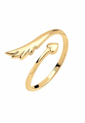Elli Women's 925 Silver Filigree Wings Design Adjustable Ring