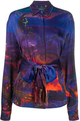 Marcelo Burlon County of Milan All Over Fantasy Shirt Multicolor Black