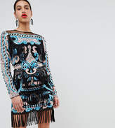 A Star Is Born Heavy Crochet Dress With Statement Shoulders
