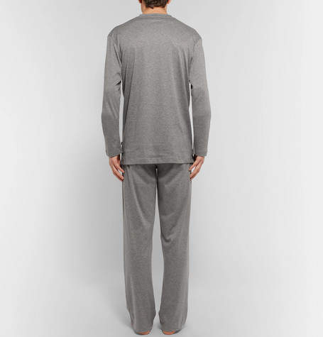 Zimmerli Mélange Mercerised Cotton-Jersey Pyjama Set