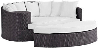 Modway Outdoor Convene Outdoor Patio Wicker Rattan Daybed