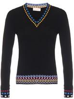 Peter Pilotto Contrast-edge V-neck sweater