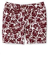 "Classic Women's Petite Mid Rise 7"" Chino Shorts-Peach Blush Print"