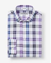 Express slim fit plaid dress shirt