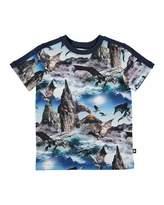 Molo Rishi Dragon Island Jersey Tee, Blue, Size 4-10