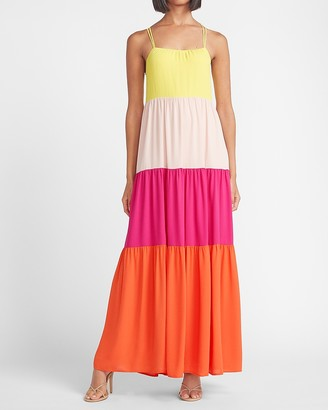 Express Color Block Maxi Dress