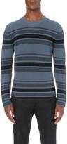 Loewe Terracotta striped knitted jumper