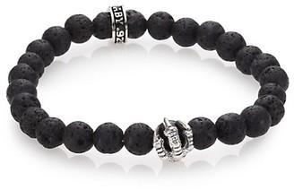 King Baby Studio Lava Rock Onyx Beaded Bracelet