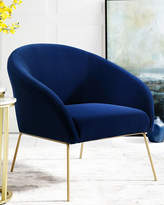 Nicole Miller Velvet Accent Chair