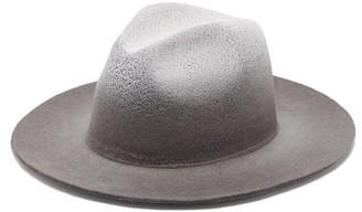 Reinhard Plank Hats - Recycled-felt Fedora Hat - Black Multi