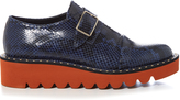 Stella McCartney Odette monk-strap snake-effect faux-leather shoes