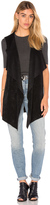 Velvet by Graham & Spencer Farren Drape Front Vest