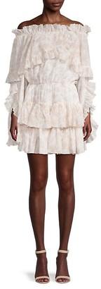Caroline Constas Ruffled Off-The-Shoulder Mini Dress