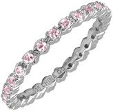 Simply Stacks Sterling Pink TourmalineEternityRing