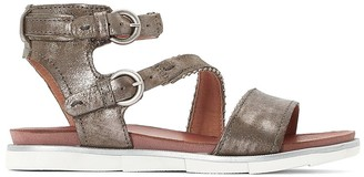 Mjus Katana Metallic Leather Flat Sandals