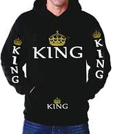 R&MPacific King Hoodie Couple Package Sweater Hooded Queen Love Couple
