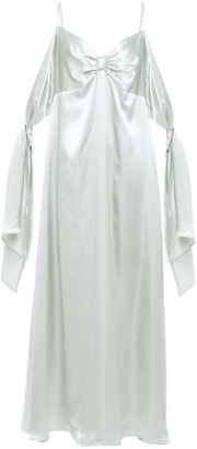 MM6 MAISON MARGIELA Draped Satin Midi Dress