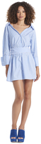 Alice + Olivia Tate Wide Neck Shirt Dress