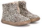 Pépé animal print boots - kids - Leather/Pony Fur/rubber - 19
