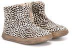 Pépé animal print boots - kids - Leather/Pony Fur/rubber - 19
