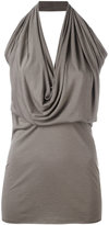 Rick Owens Lilies halterneck top - women - Cotton/Viscose/Polyimide - 44