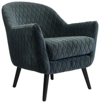 Darcy And Duke Club Chair Steel Blue With Black Legs