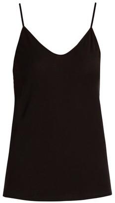Skin - Scoop-neck Pima-cotton Cami Top - Womens - Black