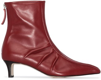 SALONDEJU Pointed Toe Ankle Boots