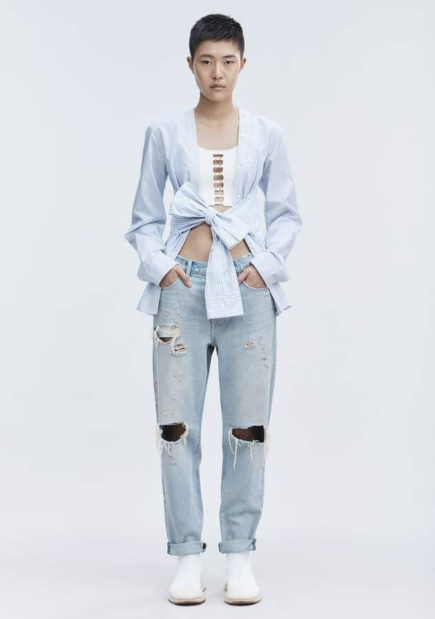Alexander Wang TIE FRONT SHIRT TOP