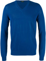 Zanone V-neck sweater - men - Cotton - 52