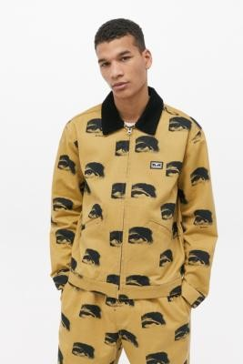 Obey Sees All Work Jacket - Beige M at Urban Outfitters