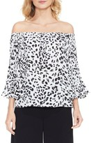 Vince Camuto Women's Animal Whispers Bell Sleeve Blouse