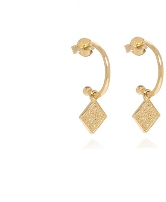 Coco Mango Jewellery Luxe Athena 18K Gold Coin Hoop Earrings