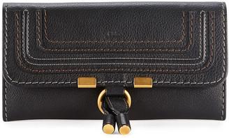 Chloé Marcie Continental Flap Wallet, Black