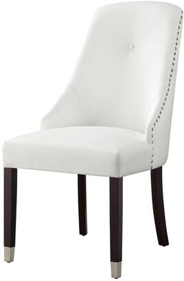 INSPIRED HOME Set Of 2 Kian Leather Dining Chair