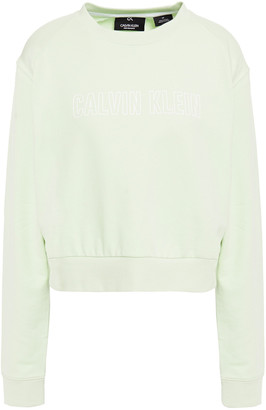 Calvin Klein Printed French Cotton-terry Sweatshirt