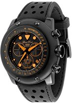 Glam Rock Men's GR90108 Racetrack Collection Chronograph Black Silicone Watch