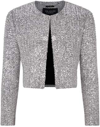 St. John Sequin Knitted Cropped Jacket