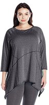 Calvin Klein Women's Plus Size Sharkbite Tunic