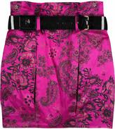Silk bubble skirt