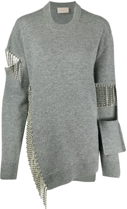 Christopher Kane Crystal-Chain Jumper